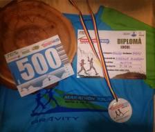 Tricoul, trofeul şi diploma Marathon 7500